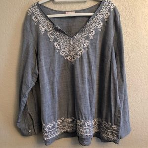 DRESS BARN Embroidered Top